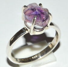 Amethyst Rough 925 Sterling Silver Ring Jewelry s.6.5 JJ11798