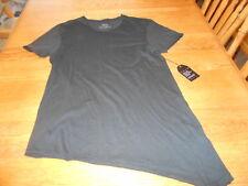 NWT Vitaly Women's Asymmetrical Hem Short-Sleeve Black Shirt/Tunic, Size XL