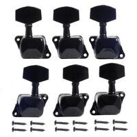 Acoustic Guitar Semiclosed Tuning Pegs Machine Heads Tuners Keys Peg Black 3L3R
