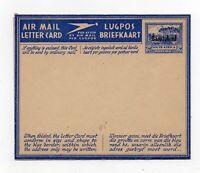 POSTAL  HISTORY  STATIONERY -  BASUTOLAND  AIRMAIL  LETTER CARD   1944 VINTAGE