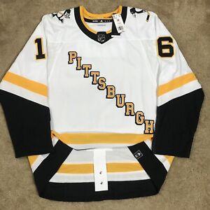 Adidas Jason Zucker Pittsburgh Penguins Reverse Retro NHL Hockey Jersey White 54