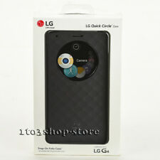 LG Quick Circle Snap-On Folio Hard Shell Case Cover For LG G4 Matte Sliver Black