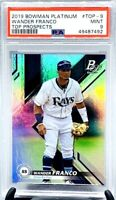 2019 Bowman Platinum REFRACTOR Rays WANDER FRANCO RC CARD PSA 9 MINT