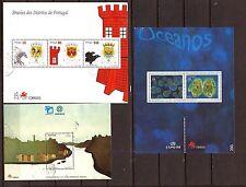 PORTUGAL 3 BLOCS # 2219/2176/2185a / le plancton-ville de porto-embleme 82M-C50