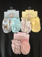 Baby Mittens 6 Pairs, 0-6 Months Newborn Infant Baby Mittens (Multi Colors)