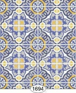 Dollhouse Miniature Wallpaper by Itsy Bitsy- Decorative Tile #1694 1:24 Scale