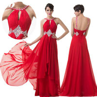 Red Long Sequins Pageant Evening Formal Dress Cocktail Bridesmaid Wedding Prom
