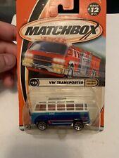 MATCHBOX VOLKSWAGEN VW TRANSPORTER VAN WITH OPEN ROOF NEW IN 2000 PACKAGE