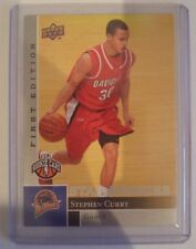 Rookie Stephen Curry NBA Basketball Trading Cards