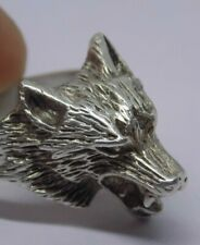 GOOD SIZE SOLID 925 SILVER WOLF HEAD RING. SIZE R. GREAT DETAIL. QUALITY