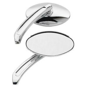 CHROME MINI OVAL MIRRORS HARLEY DYNA FXR FXRS SOFTAIL SPORTSTER TOURING