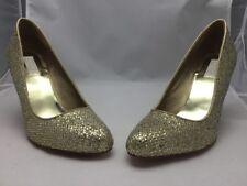 American Glamour Shoes 11M AG 4042 Gold Glitter Miller NIB