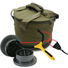 NEW NGT DELUXE WATERPROOF BAIT BIN /BAIT BOWL CARP GRINDER & MATCH CATAPULT