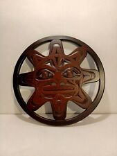 Haida trivet Sun by BOMA handcrafted recycled glass Canadian made SET OF 2