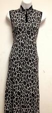 BEAUTIFUL WOMEN LONG DRESS BY RED 100% RAYON COLOR BLACK AND WHITE VERY HOT L