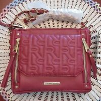 Rampage Burgundy Red Cross Body Shoulder Bag Quilted Front New Tags MSRP $68