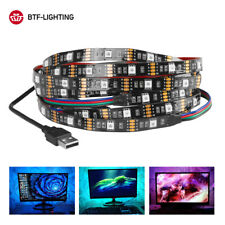DC5V USB LED Strip 5050 RGB TV PC Desktop Screen Tape Ribbon Background Lighting