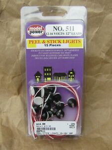NEW ~15 BUILDING LIGHTS ~ RETIRED by MODEL POWER~ Mayhayred Trains N Scale Lot