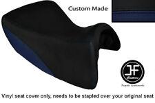 NAVY BLUE & BLACK VINYL CUSTOM FOR TRIUMPH TROPHY SE 1215 12-14 FRONT SEAT COVER