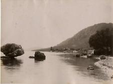 Grèce, Corfou Greece. Vintage albumen print.  Tirage albuminé  21x27  Circ