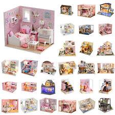 DIY Miniatur Haus Puppenhaus Holz Puppenstube Dollhouse Puppenmöbel Geschenk DE