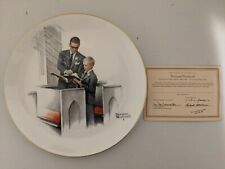 """Vintage Norman Rockwell Four Seasons Plates """"Dads Boy"""" Gorham 1980 with Coa"""