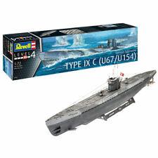 German Submarine Type IXC U67/U154 106cm 1:72 U-Boot Bausatz - Revell 05166 NEU