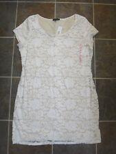 NWT TIANA B. Women's White/ Nude Lace Dress Sz M Medium MSRP $98