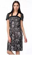Versace 1969 black mix satin stretch Pencil Party Dress Size IT 36 UK 8 RRP £299