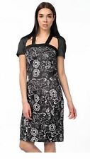 Versace 1969 Black Mix Satin Stretch Pencil Party Dress Size It 40 Uk12