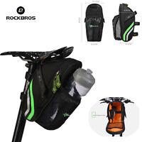 RockBros Cycling Bicycle Saddle Bag MTB Road Bike Seat Bags Pannier Bag Black