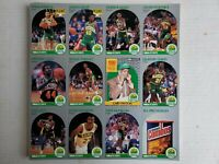SEATTLE SUPERSONICS 1990-91 HOOPS TEAM CARDS UNCUT sheet KEMP RC, PAYTON RC
