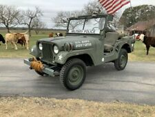 1955 Willys Jeep M38A1 Military Police Jeep with 50 cal
