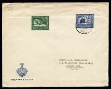 LORCH JUL 16, 1938 CANCEL ON #C59-60 to USA