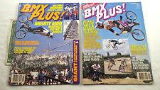 VINTAGE BMX PLUS MAGAZINE LOT SEPT 1993 OCT 1994 BIKE RACING FREESTYLE CYCLING