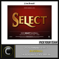 2020 PANINI SELECT BASEBALL 6 BOX (HALF CASE) BREAK #A813 - PICK YOUR TEAM