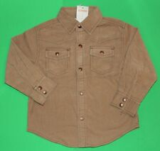 3t 3 Nwt Gymboree Wild West Khaki Cowboy Corduroy Shirt Top Boys