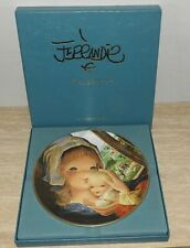 Vintage Schmid Collector Plate Ferrandiz Mother and Child Limited Edition w/Box