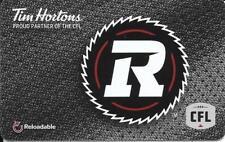 *NEW* 2018 Ottawa Red Blacks-CFL-Tim Hortons Tim Card Gift Card  FD-61807