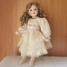 Ashton-Drake Galleries Sandy Freeman Porcelain Doll Golden Locks No Shoes