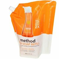 Method, (2 Pack) Dish Soap Refill, Clementine, 36 fl oz (1064 ml)