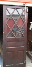 Cabinet Door Criss Cross Pattern In Glass Natural Not Painted 30 X 77 Can Ship!