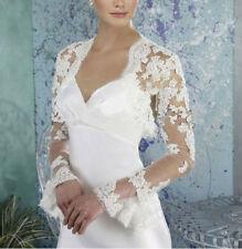 Spitze Bolero Jacke Braut zum Hochzeit Brautkleid Größe 32-42
