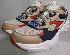 Rare Skechers Stamina Airy Mens white tan blue red & Synthetic Fashion
