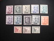 Franco 1949 números Edifil 1044-1054 y 1060-61 * * *