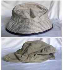 2 piece set Mothercare Hats, Boys 1 x 1-3yr, 1 x 3-6yr. beige and khaki green.