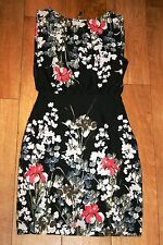 NEW! Vintage style blossom print dress SIZE 8 pencil party occasion 50's evening