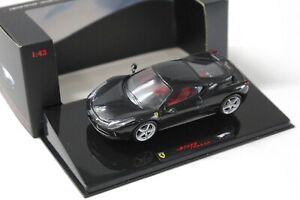 1:43 Hot Wheels Elite Ferrari 458 Italia Coupe black