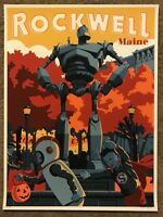 Steve Thomas The Iron Giant Animated Movie Print Poster Mondo Brad Bird Cartoon