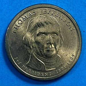 2007 ~ US One Dollar coin President series THOMAS JEFFERSON DE 1801-1809(813)